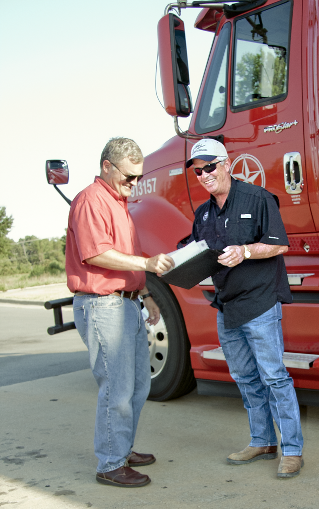 Photo of Star Freight driver and customer